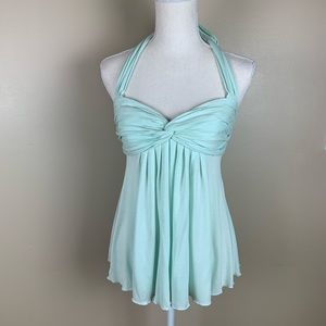 NWT. Marciano Dream Green Halter Tank Top. Size XS